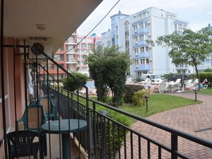 Studio with furniture in the central area of Sunny Beach
