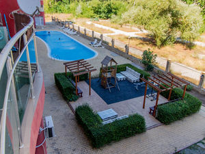 Furnished studio in complex Global Ville, Sunny Beach