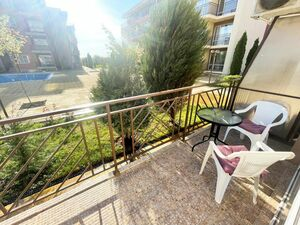 Pool view furnished studio in Holiday Fort Club, Sunny Beach
