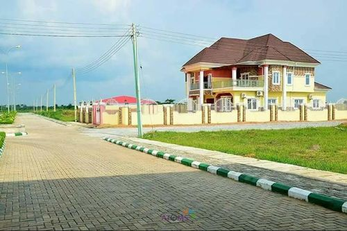 Interlock road  in estate